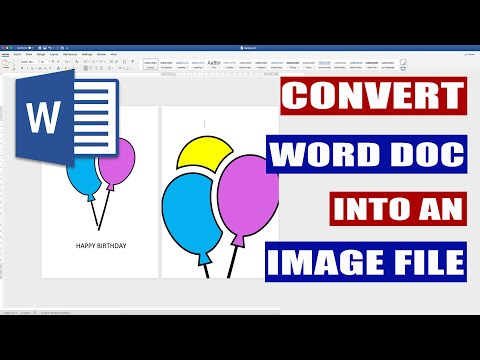 Convert Word File Into Image File | Microsoft Word Tutorials
