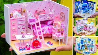 5 DIY Miniature Doll House Bunk Bed Rooms