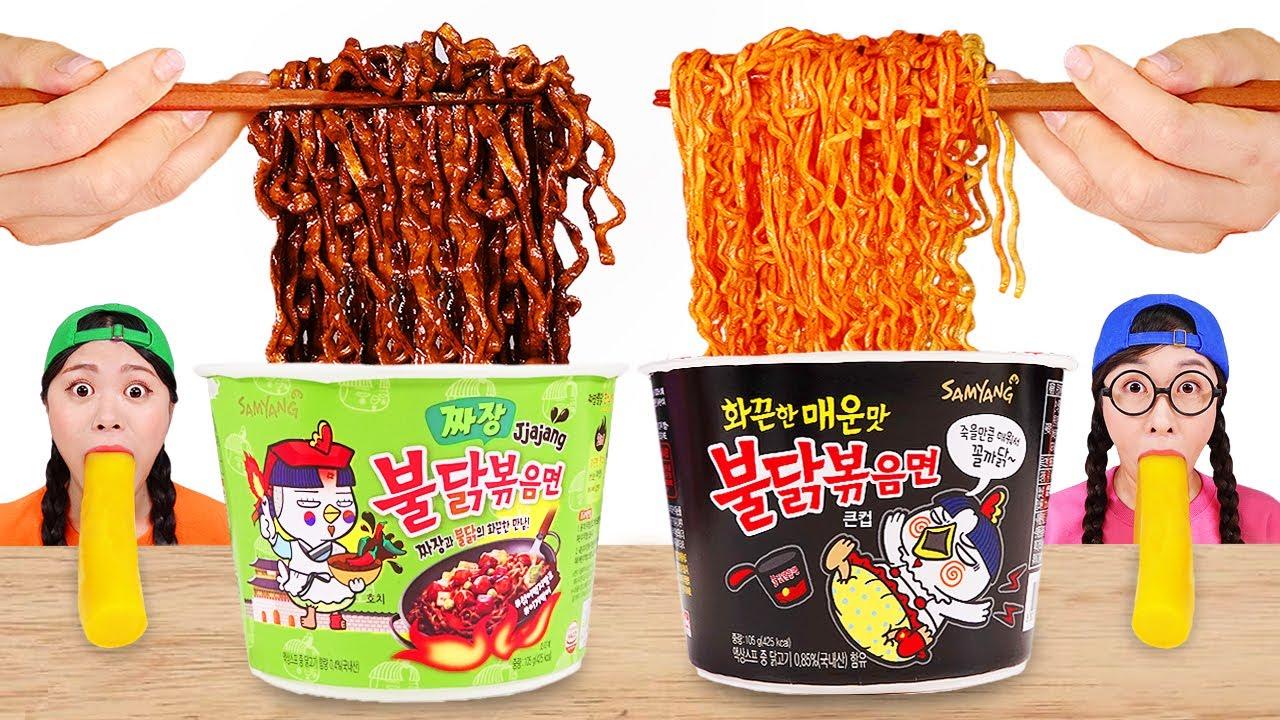불닭볶음면 먹방 Mukbang Spicy Noodle DONA 도나