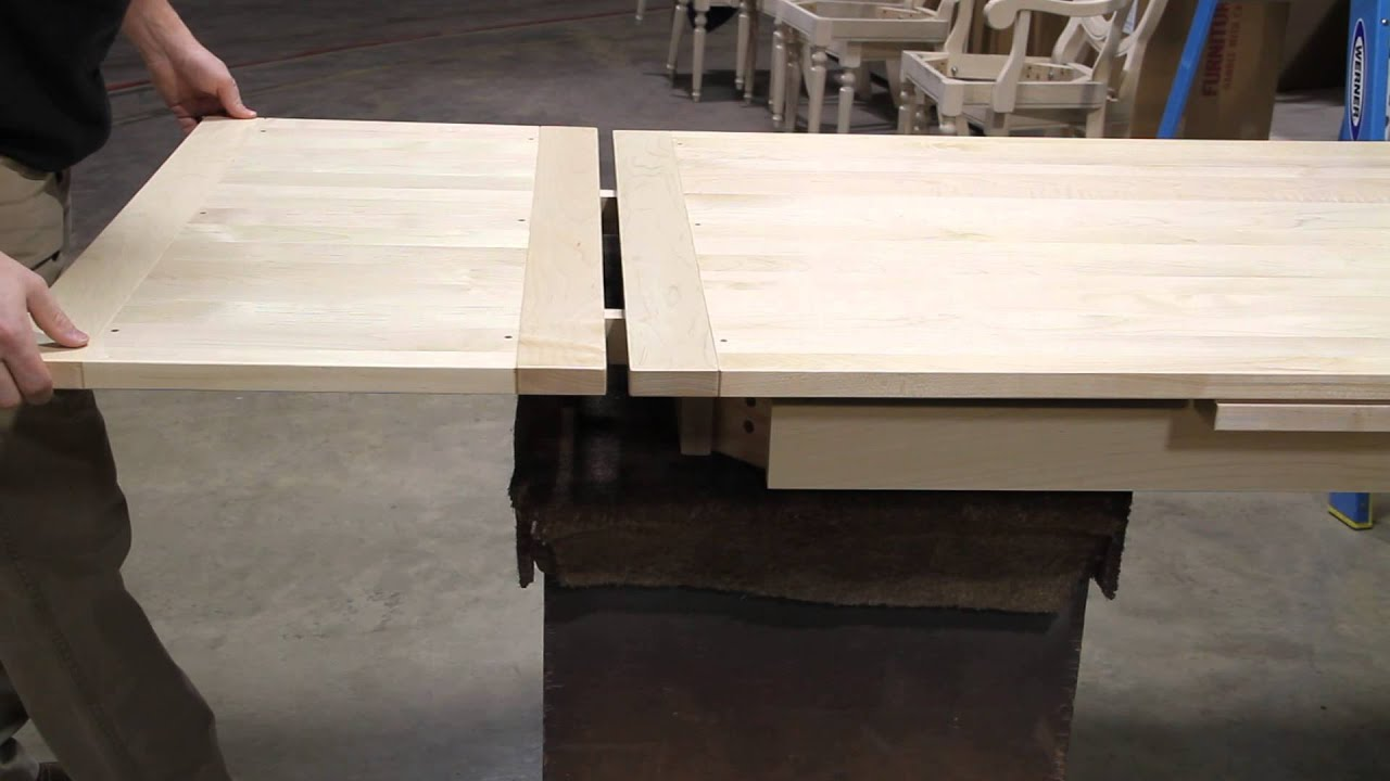 how a refectory table leaf works canal dover furniture youtube rh youtube com