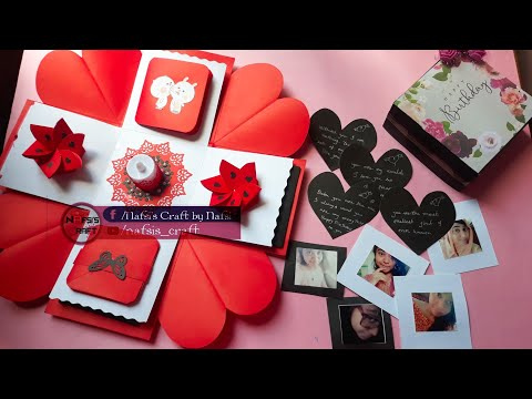 DIY Exploding Box Tutorial || Explosion Box || Gift For Special One