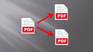 How to save each page in a PDF in a separate file