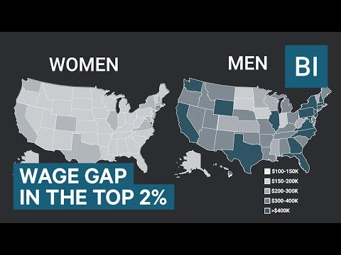 Animated map shows the staggering salary differences between the highest-paid men and women
