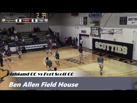 2017 Highland Men's Basketball vs Fort Scott CC