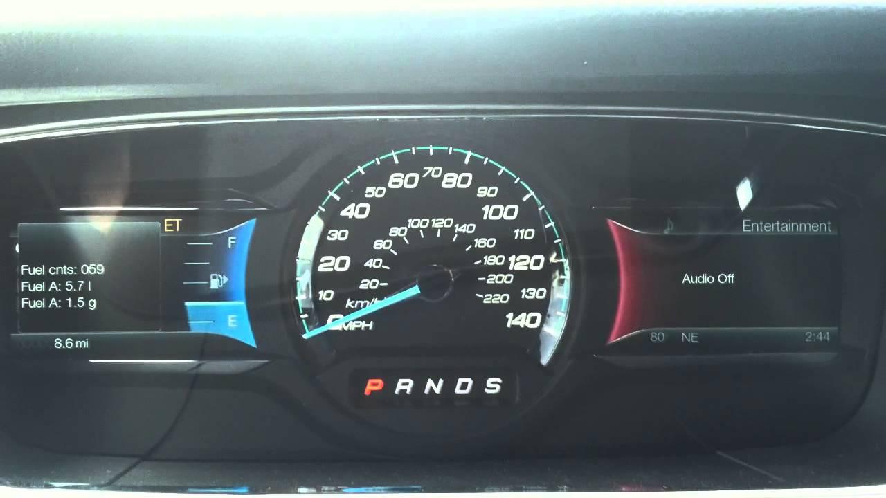 2013 Ford Taurus: Gauge Test Mode