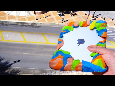 Can Silly Putty Protect iPad Air from Extreme 80 FT Drop Test? - GizmoSlip
