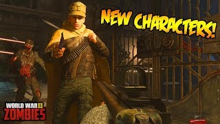 WW2 ZOMBIES - NEW CHARACTER UNLOCKS EASTER EGG FOR ZOMBIES! (Call of Duty WW2 Zombies)