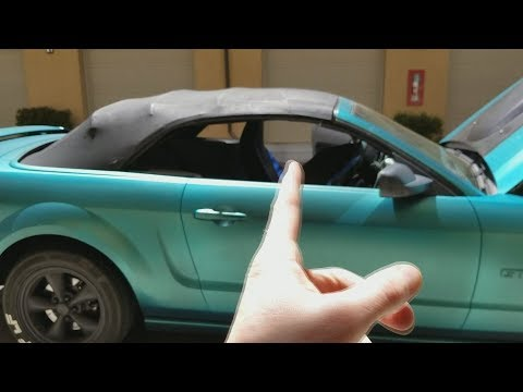 How To Fix Your Ford Mustang Convertible Top That Won T Go Down Or
