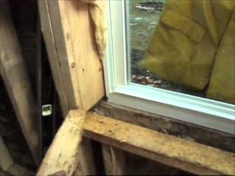How to install vinyl windows youtube for Installing vinyl replacement windows