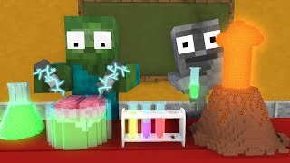 Monster School: EXPERIMENTS SCIENCE CLASS! - Minecraft Animation