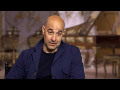 """Beauty and the Beast: Stanley Tucci """"Maestro Cadenza"""" Behind the Scenes Movie Interview"""