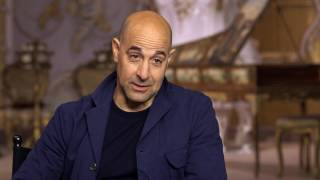 beauty and the beast stanley tucci maestro cadenza behind the scenes movie interview