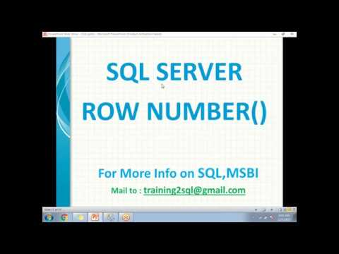 SQL ROW NUMBER Functions | Row Number in SQL Server