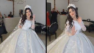 عروسة خطفت الانظار بفستانها الروعه ورقصها علي مهرجان هو اللى مجننى 😍 ما شاء الله ربنا يوعدنا كلنا ❤️