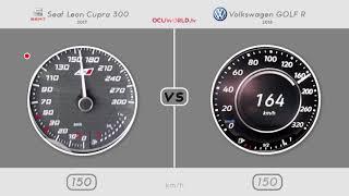 Seat Leon Cupra 300 vs Volkswagen GOLF R 2018 // 0-250