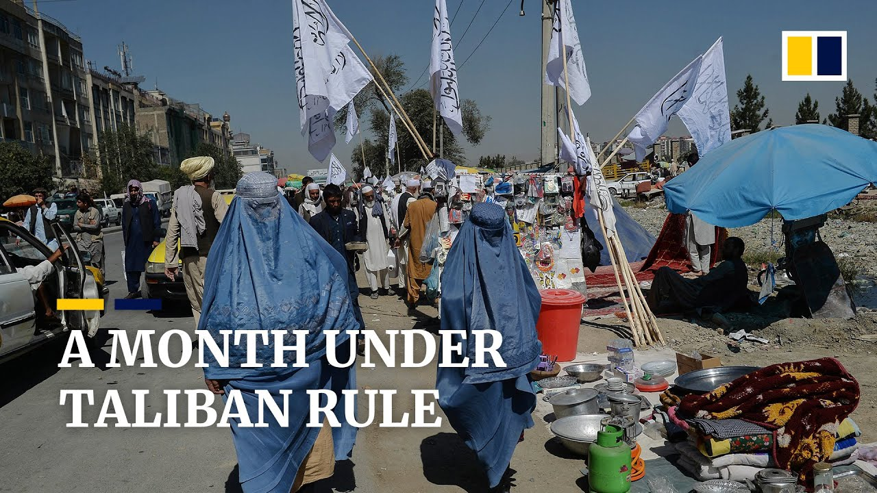 Download Afghans describe life under Taliban rule one month on