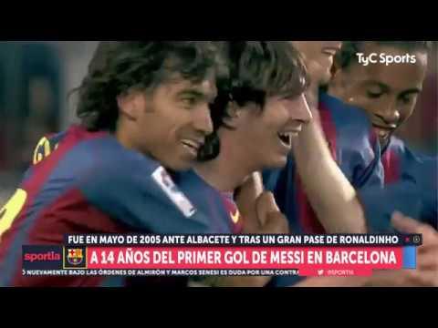 A 14 años del primero de los 600 goles de Lionel Messi en Barcelona (1/5/19)