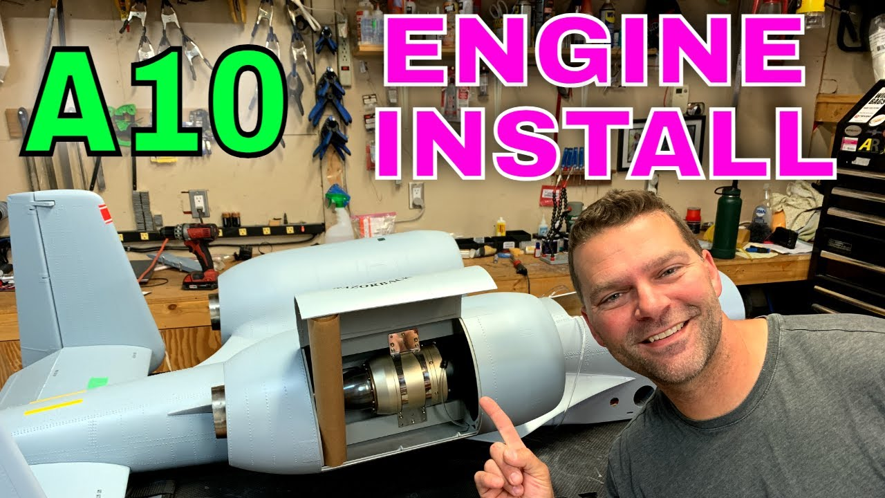 SKYMASTER A10 Engine installation & Scale Fans complete