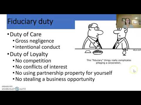 Business Law - Fiduciary Duty
