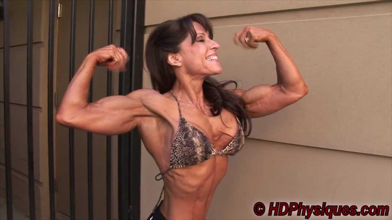 Fitness Girl Nikola Flexing Her Biceps
