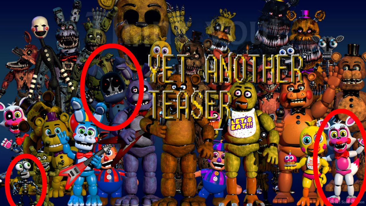 Cartoon foxy 2 0 and withered bonnie teaser fnaf world new teaser