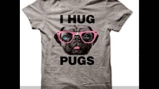 I Hug Pugs T-shirt