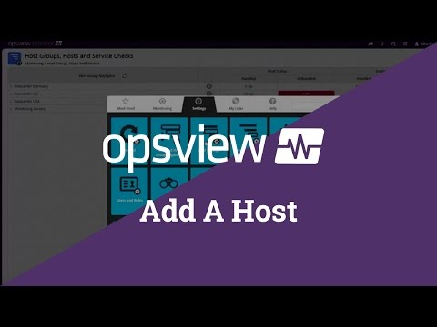Add and Monitor Hosts in Opsview Monitor