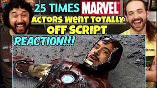 25 Times MARVEL ACTORS Went Totally Off Script - REACTION!!!