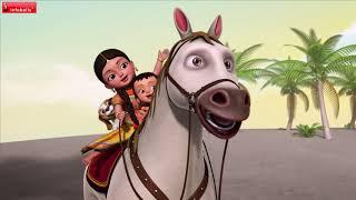 Chal Chal Gurram | Telugu Rhymes for Children | Infobells