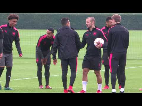 Arsenal train ahead of Red Star clash