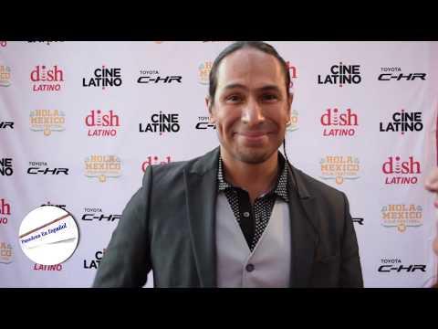 Horacio GarcíaRojas durante la clausura de Hola México Film Festival