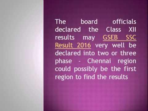 GSEB SSC Result 2016