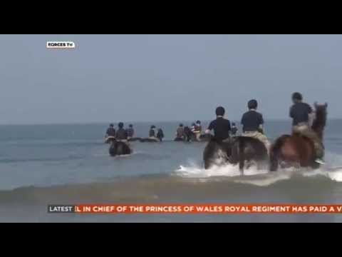 Life's A Beach For King's Troop Horses 16.09.14