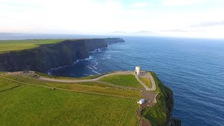 A birds-eye view of the Cliffs of Moher, County Clare