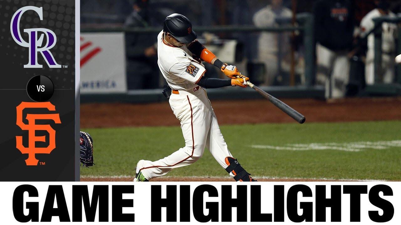 Mauricio Dubón, Evan Longoria power Giants to win | Rockies-Giants Game Highlights 9/23/20