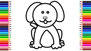how to draw dog for kids | Drawing for kids | कुत्ता का चित्र कैसे बनाएं