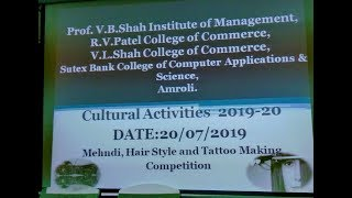 Mehndi Hair Style and Tatoo Making Competition 201920