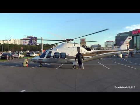 Agusta Westland AW-109SP GrandNew RA-01986 Engine start, Start-Up, Takeoff. HeliRussia-2017
