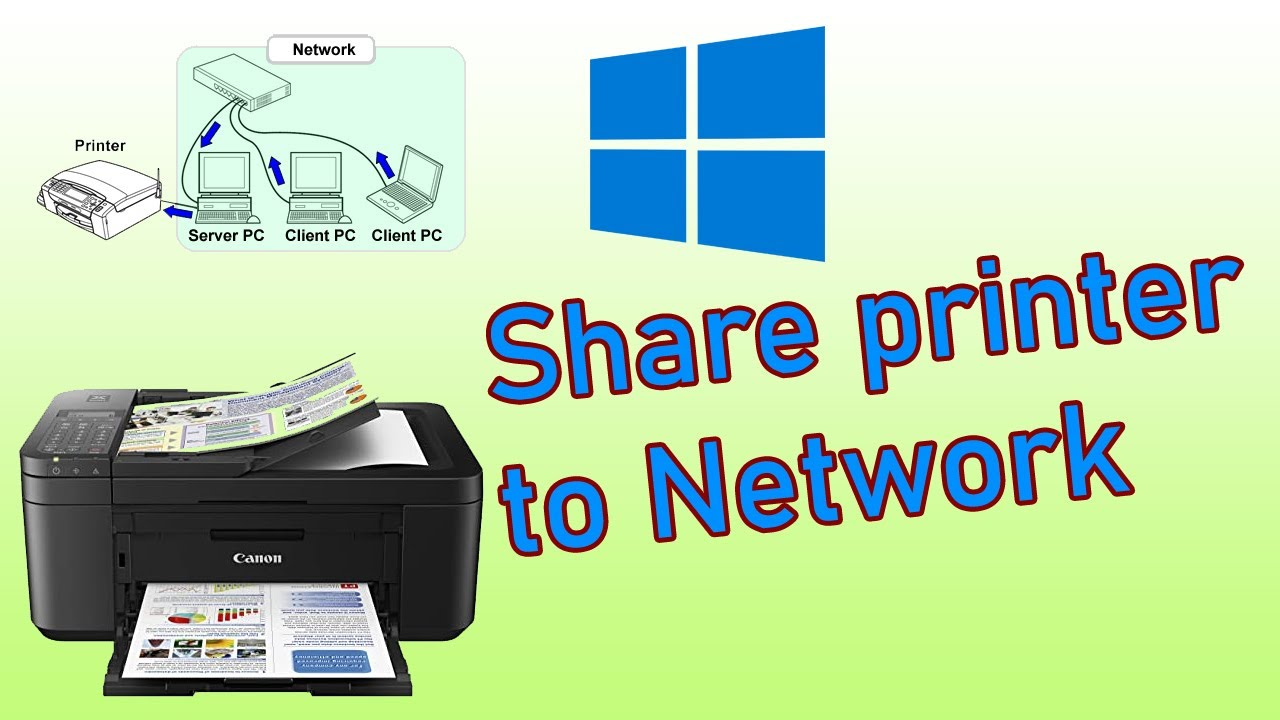 how to share network printer
