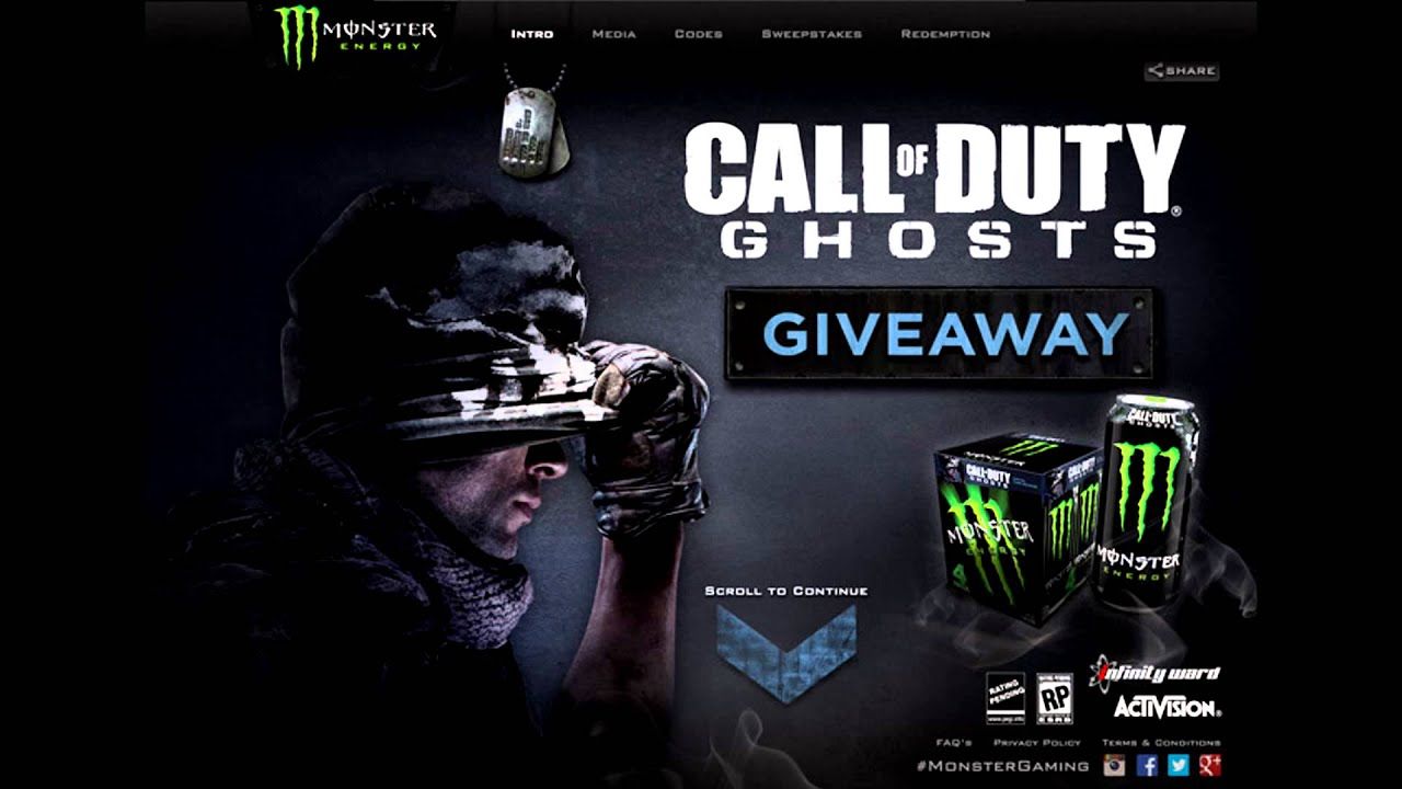 Monster Energy Giving Away Call Of Duty Ghost Things YouTube