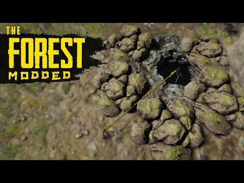 UNDERGROUND HOME! The Forest Modded S2 Episode 10