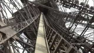 tour of the eiffel tower lifts/elevators - part 2 of 3