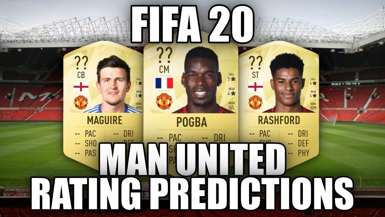 FIFA 20 - MANCHESTER UNITED PLAYER RATING PREDICTIONS!!