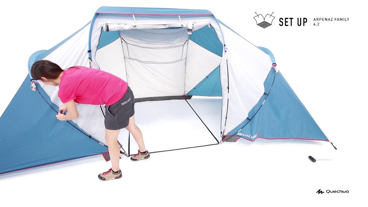 monter sa tente je tent arpenaz family 4 2 opzetten quechua decathlon