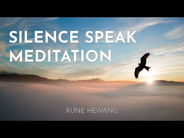 Silence speak meditation with Rune Heivang