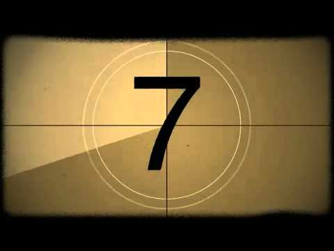Old film countdown motion background youtube - How to make a countdown your wallpaper ...