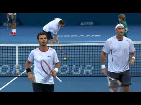 Rojer & Tecau v Federer & Mahut - Full Match Men's Doubles Round 1: Brisbane International 2014