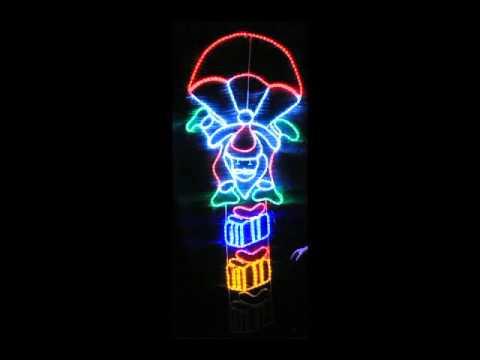Parachuting santa multi coloured led rope light youtube parachuting santa multi coloured led rope light aloadofball Gallery