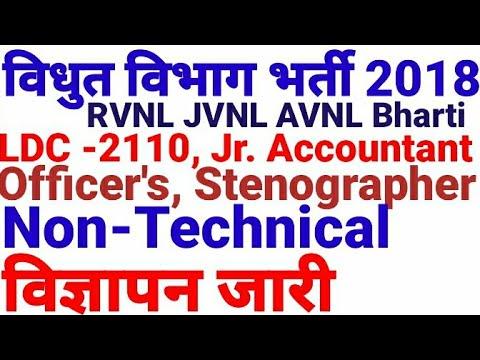 राजस्थान विधुत विभाग भर्ती 2018 RVNL JVVNL AVVNL Vacancy Rajasthan 2018 विज्ञापनजारी All India Jobs