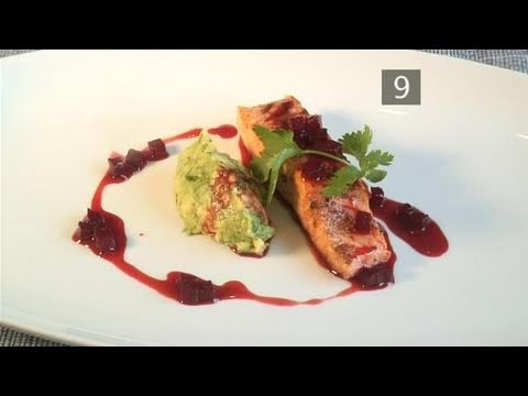 How To Prepare Seared Salmon With Avocado, Beetroot And Orange Sauce